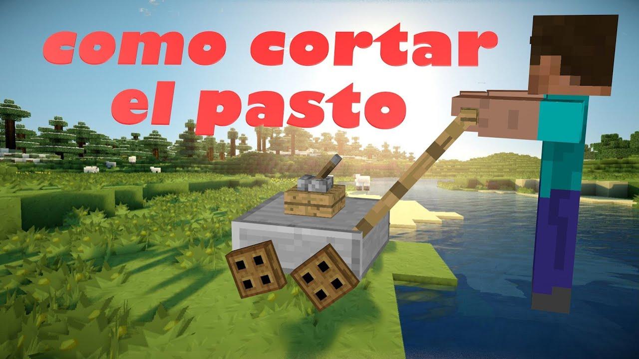 Como Cortar O Hacer Crecer Pasto Minecraft 1 7 2 Youtube
