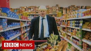 Boris Johnson goes undercover in a supermarket (1998) - BBC News