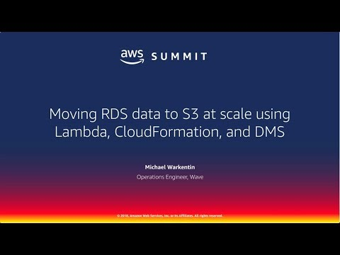 Wave on Moving RDS data to S3 at Scale Using Lambda, Cloudformation, and DMS