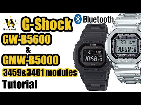 GW-B5600 & GMW-B5000 - Tutorial On How To Setup And Use All The Functions