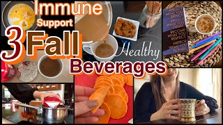 3 FALL Drink Recipes (Healthier Options!)