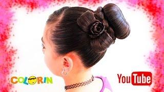 Peinados con trenzas | Dona/chongo con trenzado y flor |