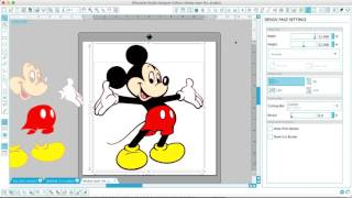 Silhouette design files help - Layer Mickey - Changing to a single layer file from a 2-layer file