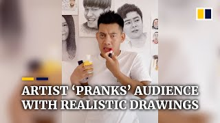 Download Chinese artist 'pranks' audience with realistic drawings