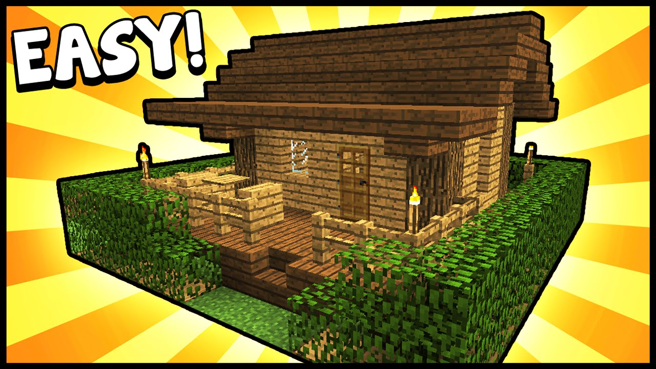 Small survival starter house minecraft tutorial youtube for Small starter homes