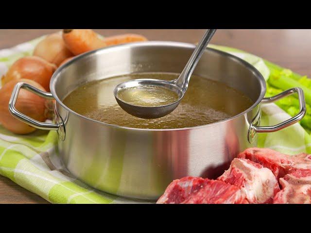 Изображение Говяжий бульон - основа вкусного блюда! Варим правильно! Рецепт от Всегда Вкусно!