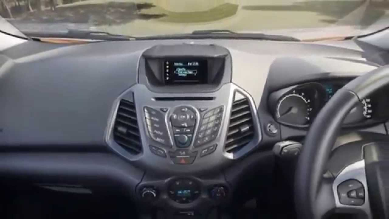 2015 ford ecosport interior hd video youtube. Black Bedroom Furniture Sets. Home Design Ideas