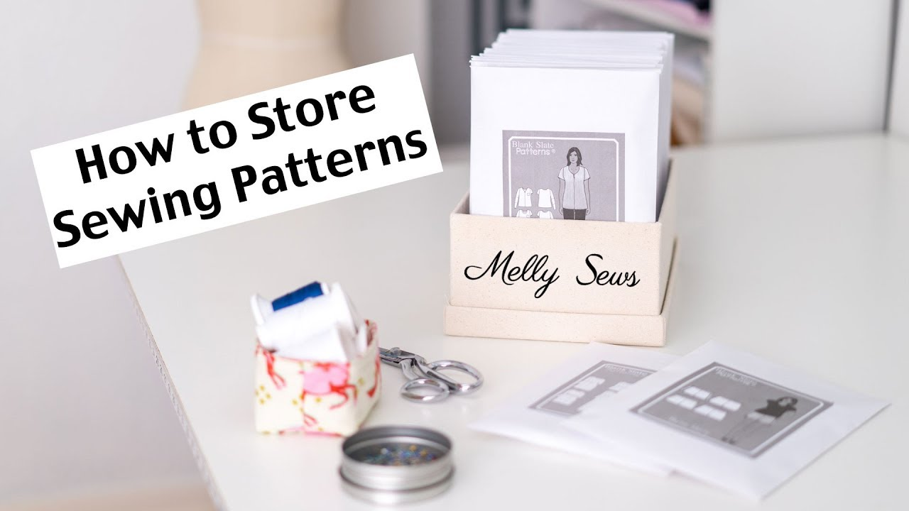 How to Store Sewing Patterns - Digital PDF Sewing Pattern Storage ...