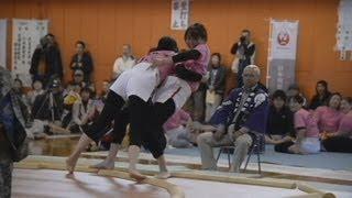 母の日に女だけの相撲大会 北海道福島町