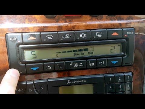 Mercedes W210 Hidden Function Climate Control Diagnostics / Engineering  menu Mercedes W210