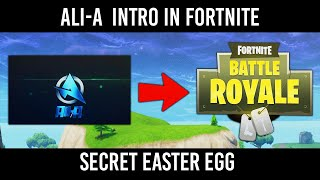 How To Hear The Ali-A Intro In Fortnite Battle Royale... (Easter Egg)