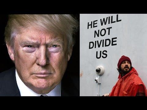 Shia Labeouf Arrested Over Donald Trump @Hodgetwins