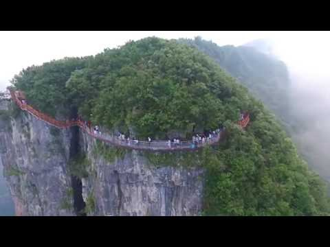 1,500-meter-high glass bottomed walkway opened to public