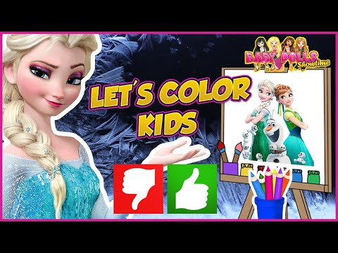 Coloring Frozen Anna & Olaf Disney Coloring Page | How To Color With Markers | Kids Coloring Videos