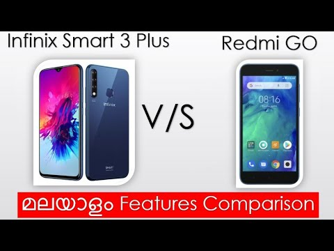 Infinix Smart 3 Plus 📱 Vs Redmi GO 📱 Features 😍 Comparison Malayalam