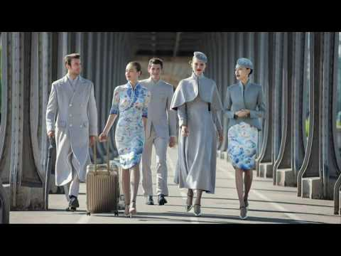 Hainan Airlines introduce New Haute Couture Uniforms That Looks High Fashion at Paris Couture Week