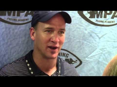 Peyton Manning at Manning Passing Academy - July 10, 2015