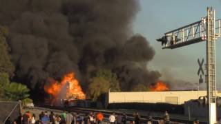 Ontario California - Recycling Facility Fire - Seen on the News - Oct. 21, 2016
