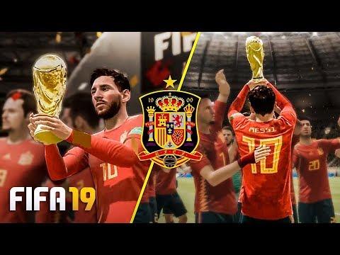SE O *MESSI* FOSSE ESPANHOL, GANHARIA UMA COPA DO MUNDO?   FIFA 19 Experimento