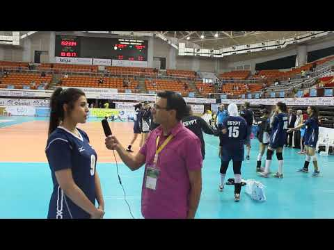 Egypt's setter Shrouk Foad commenting about the second win v Botswana and the expected fever against
