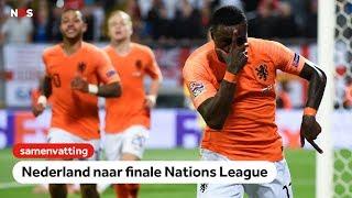 Samenvatting Nederland - Engeland 3-1   Nations League
