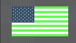 The Creation of American Flag with Adobe illustrator