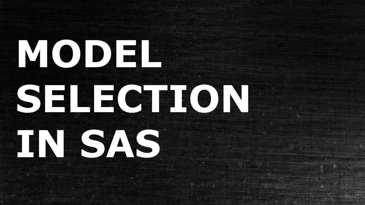 Model Selection in Logistic Regression | Statistical Modeling