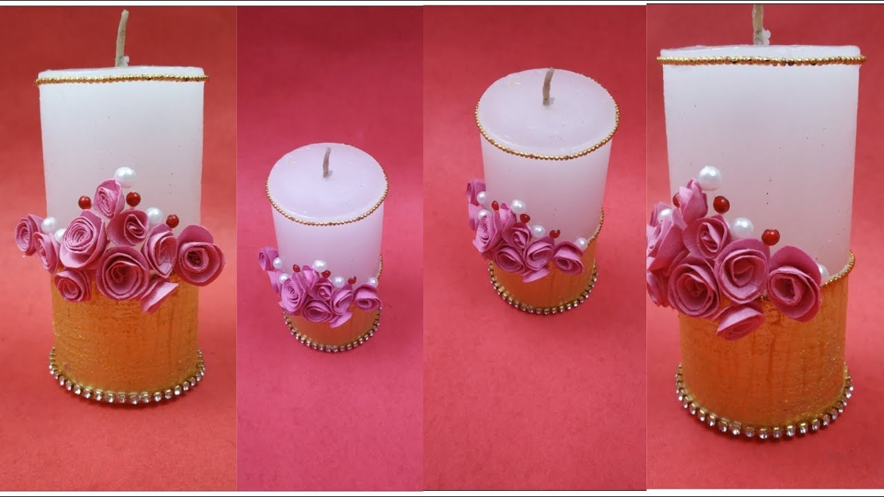 Simple Christmas Decoration Ideas,Candle decoration Ideas,Christmas  crafts,How to decorate Candle