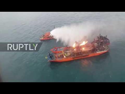 Russia: Ten sailors missing, ships still ablaze in Kerch Strait