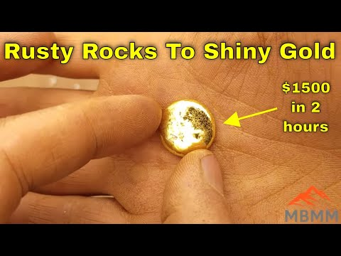 Complete Gold Milling Process! From Gold Ore to Shiny Gold Button