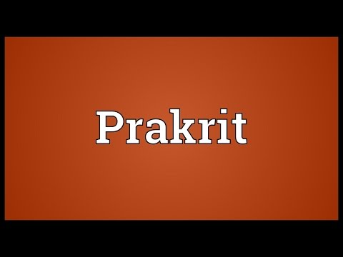Prakrit Meaning