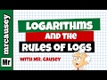 Logarithms Explained and Rules of Logari