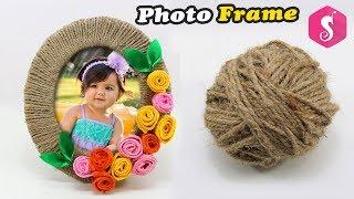 NEW Photo Frame Craft Idea Reusing JUTE | Easy Craft Idea | Sonali Creations