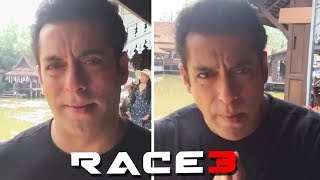 Salman Khan Greets In THAI From Bangkok While RACE 3 Shoot
