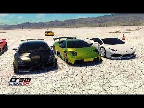 The Crew Cau Lamborghini Gallardo Vs Murcielago Vs Huracan Youtube