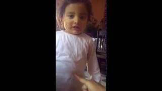 13 months old baby performing on cuppycake song..