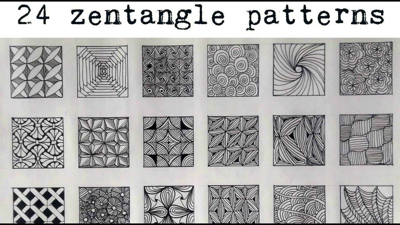 Zentangle Patterns Impressive Design Inspiration