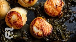 Cooking Scallops With Sorrel Butter | Melissa Clark Recipes | The New York Times