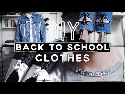DIY BACK TO SCHOOL CLOTHES ✂️ 👕 Minimal & Tumblr Inspired (2017) // Imdrewscott