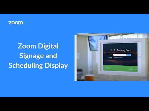 Zoom Digital Signage and Scheduling Display - YouTube