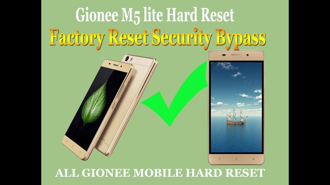Gionee M5 lite android 5 1 Hard Reset