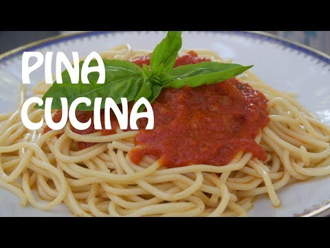 Authentic Italian Napoletana Sauce - Pina Cucina Ep. 16