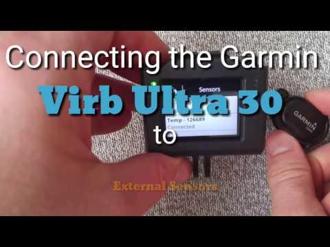 Garmin Virb Ultra 30 : Connecting to External Sensors