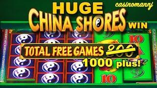 **HUGE WIN** CHINA SHORES 4x5x5x5x4 Slot - *SLOT STORIES* - Slot Machine Bonus