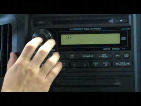 2008 Honda Civic Radio Wiring Diagram Service Tip Radio Code Youtube