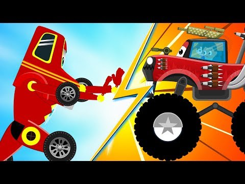 Red SuperCar Ricky Vs Monster Truck | Kids Cartoon Songs & Rhymes