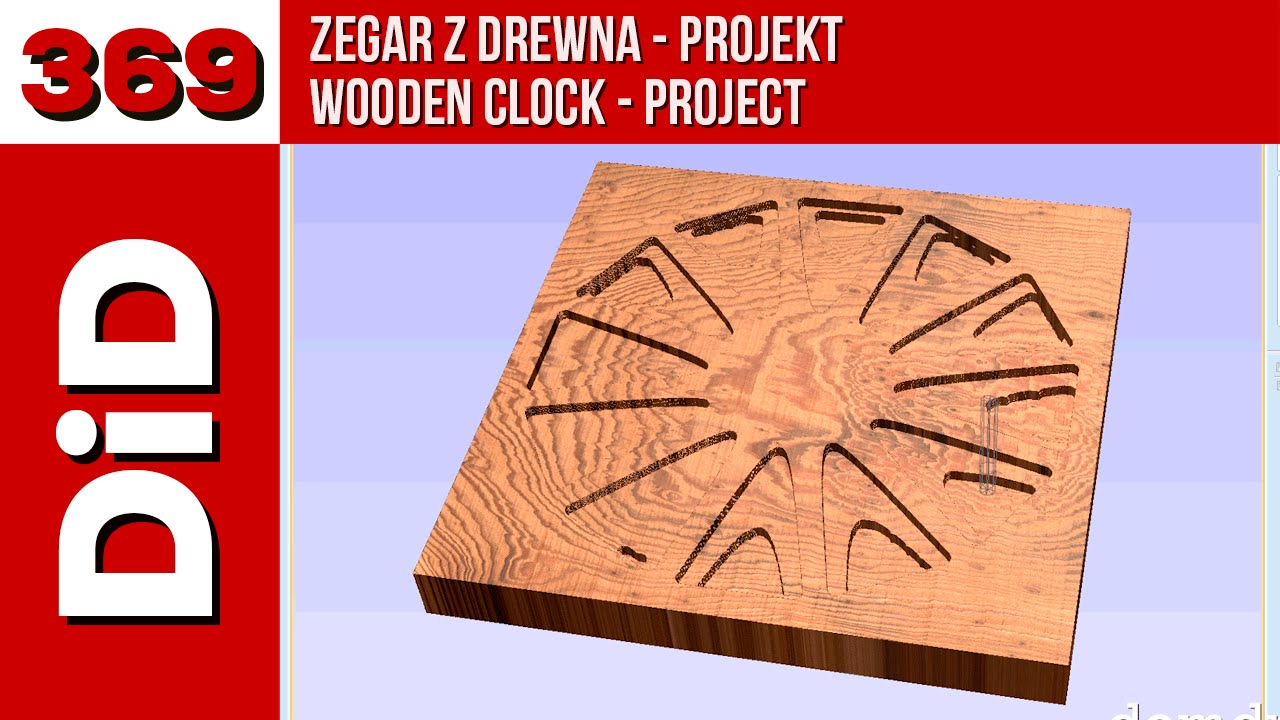 369. Zegar z drewna - projekt / Wooden clock - project