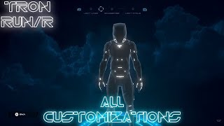 Tron RUN/r - All Customization Options Including DLCs