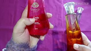Yardley all 3 Perfumes review and details London Mist Morning Dew Autumn Bloom