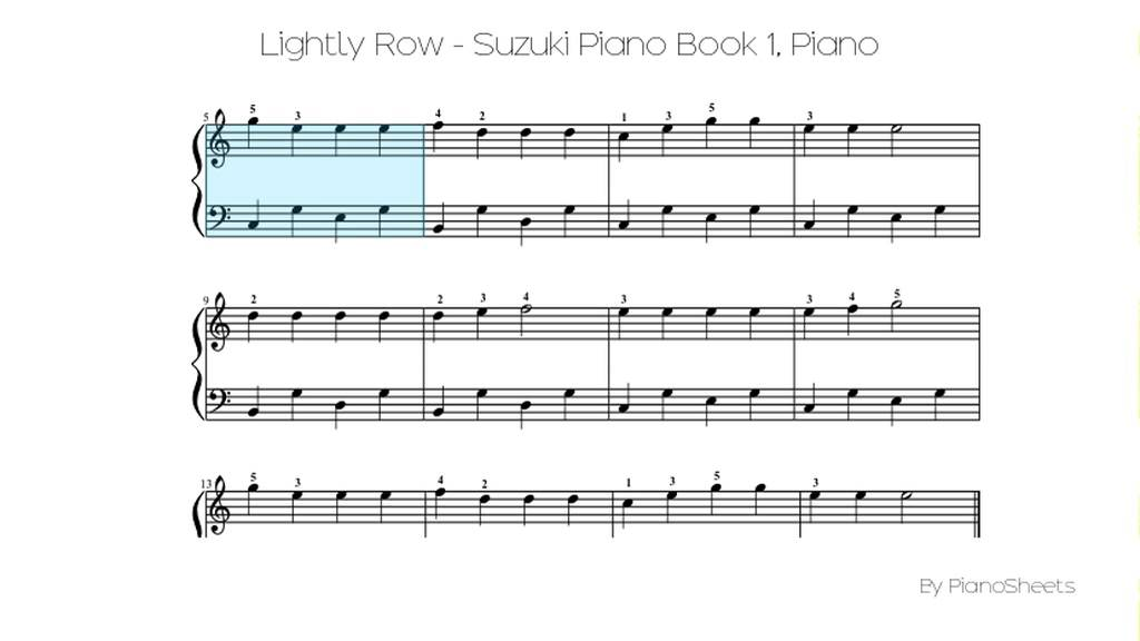 Lightly Row Suzuki Piano Book 1 Piano Solo Youtube